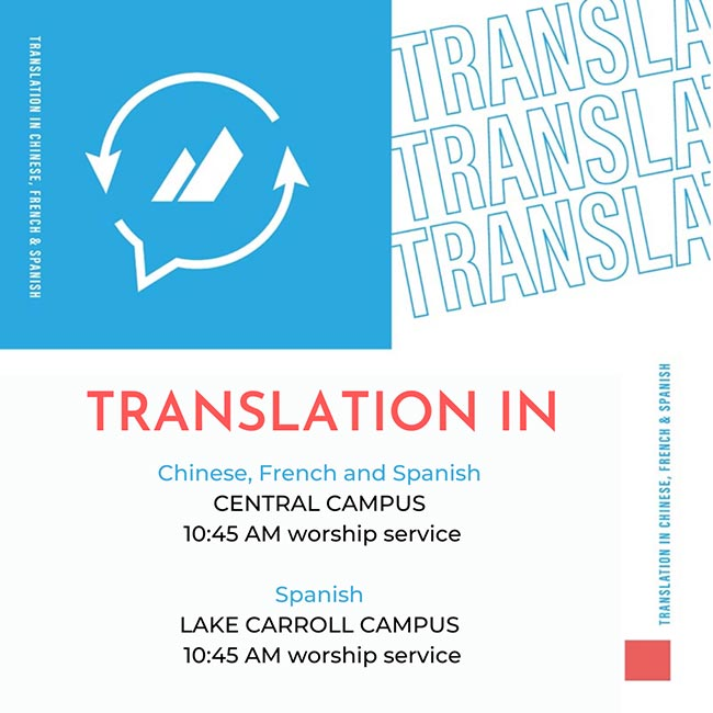 CHINESE, FRENCH & SPANISH TRANSLATIONS