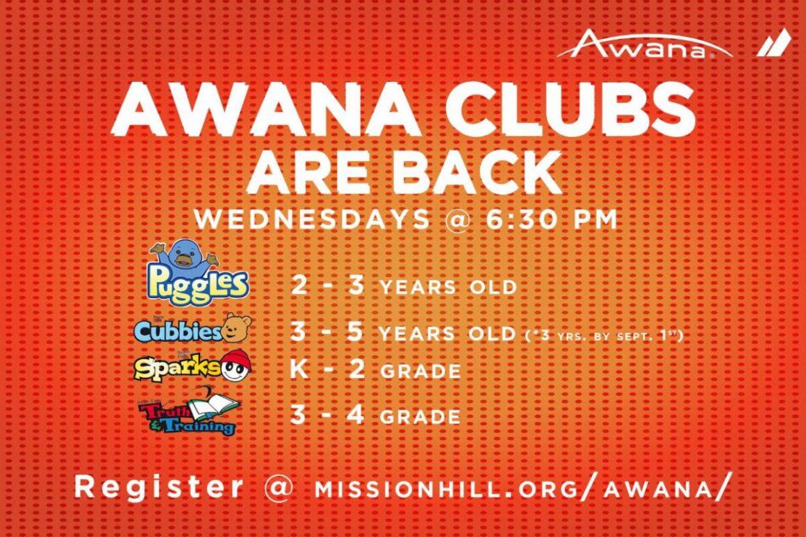 WEDNESDAYS // AWANA CLUBS RETURN